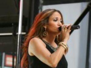Jennifer Lopez în concert la New York, pe 9 octombrie 2007