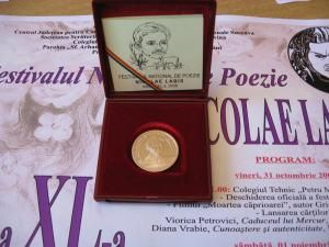 """Medalia jubiliară """"Nicolae Labiş"""""""