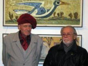 Maestrul Corneliu Tincu şi prietenul său, artistul plastic Adrian Bocancea