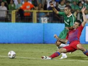 Dintre cele trei echipe româneşti implicate în Liga Europa, Steaua a ieşit cea mai şifonată