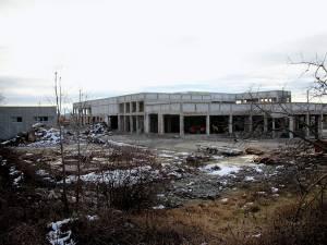 Ruinele abatorului de pasări de pe Aleea Dumbrăvii