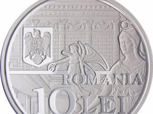 Emisiune numismatică dedicată Academiei Române - Aur - avers