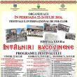 """Cea de-a XXVII-a ediţie a Festivalului Internaţional de Folclor """"Întâlniri Bucovinene"""""""