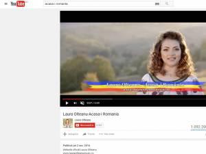 """Videoclipul melodiei """"Acasă-i România"""", al Laurei Olteanu, are peste un milion de vizualizări pe YouTube"""