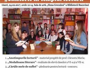"""""""Călătorie în templul lecturii"""", la Biblioteca Bucovinei"""