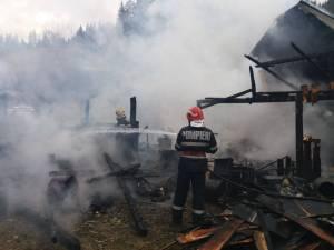 Incendiu puternic într-o gospodărie din Brodina