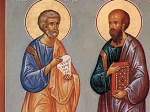 Astăzi este sărbătoarea Sfinţilor Apostoli Petru şi Pavel