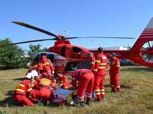 Desfăşurare de forţe în cadrul unui exerciţiu în domeniul situaţiilor de urgenţă, la Siret