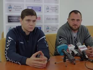 Portarul Valeriu Erhan şi antrenorul Adrian Chiruţ