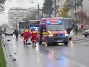 Trecerea de pietoni din fața Palatului de Justiție Suceava, unde s-a produs tragicul accident de miercuri