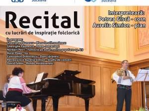 Recital cu lucrări de inspirație folclorică, pe scena Universității Suceava