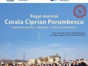 """Regal muzical, săptămâna viitoare, alături de Corala """"Ciprian Porumbescu"""""""