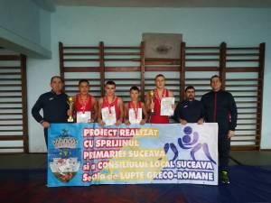 Medaliaţii suceveni, alături de cei trei antrenori