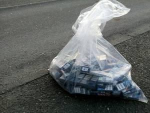 1.000 de pachete de țigări descoperite în cabina unui șofer de tir ucrainean