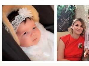 Mama și cei doi îngerași ai familiei Huluță, decedați in urma cumplitului accident de la Bacău