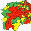 53 din cele 114 de localități ale județului Suceava sunt în scenariul roșu