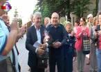 Candidatul independent la Parlamentul European, Mircea Diaconu, primit cu muzică la Suceava