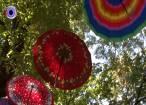 250 de umbrele multicolore au acoperit alei ale parcului central