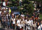 Aproape 1.200 de participanţi la Marşul anti-violenţă, anti-drog, anti-tutun şi de prevenire a accidentelor rutiere