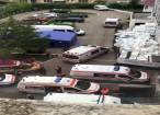 Spitalul Rădăuți, asaltat de 11 ambulanțe care au umplut curtea unităţii medicale